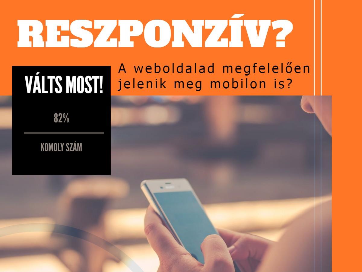 A weboldalad megfelelően jelenik meg mobilon is?